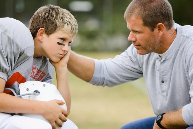 Coach Giving Encouragement
